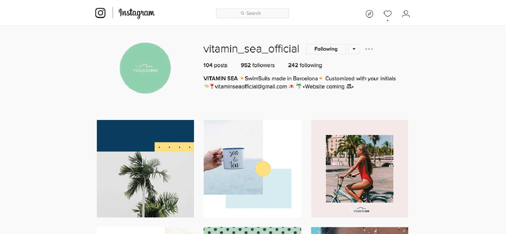 Aplicació gràfica en xarxa social Vitamin Sea