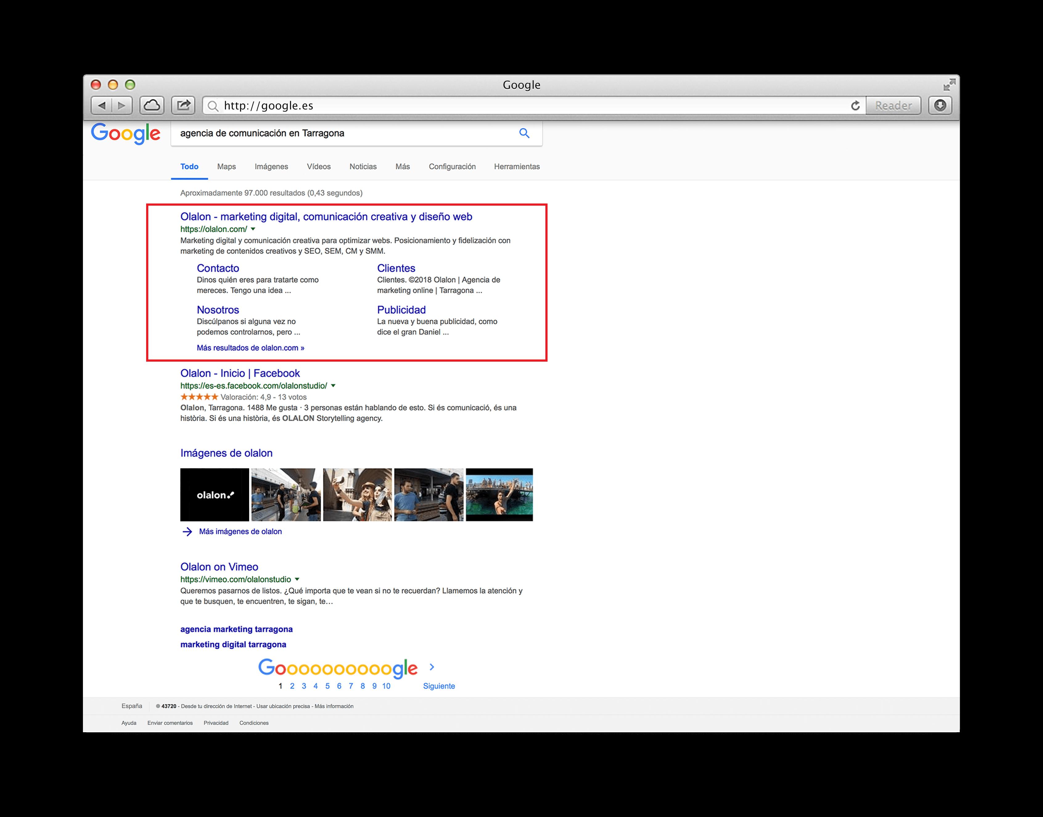 Posicionamiento en Google - SEO - Agencia de Publicidad en Tarragona
