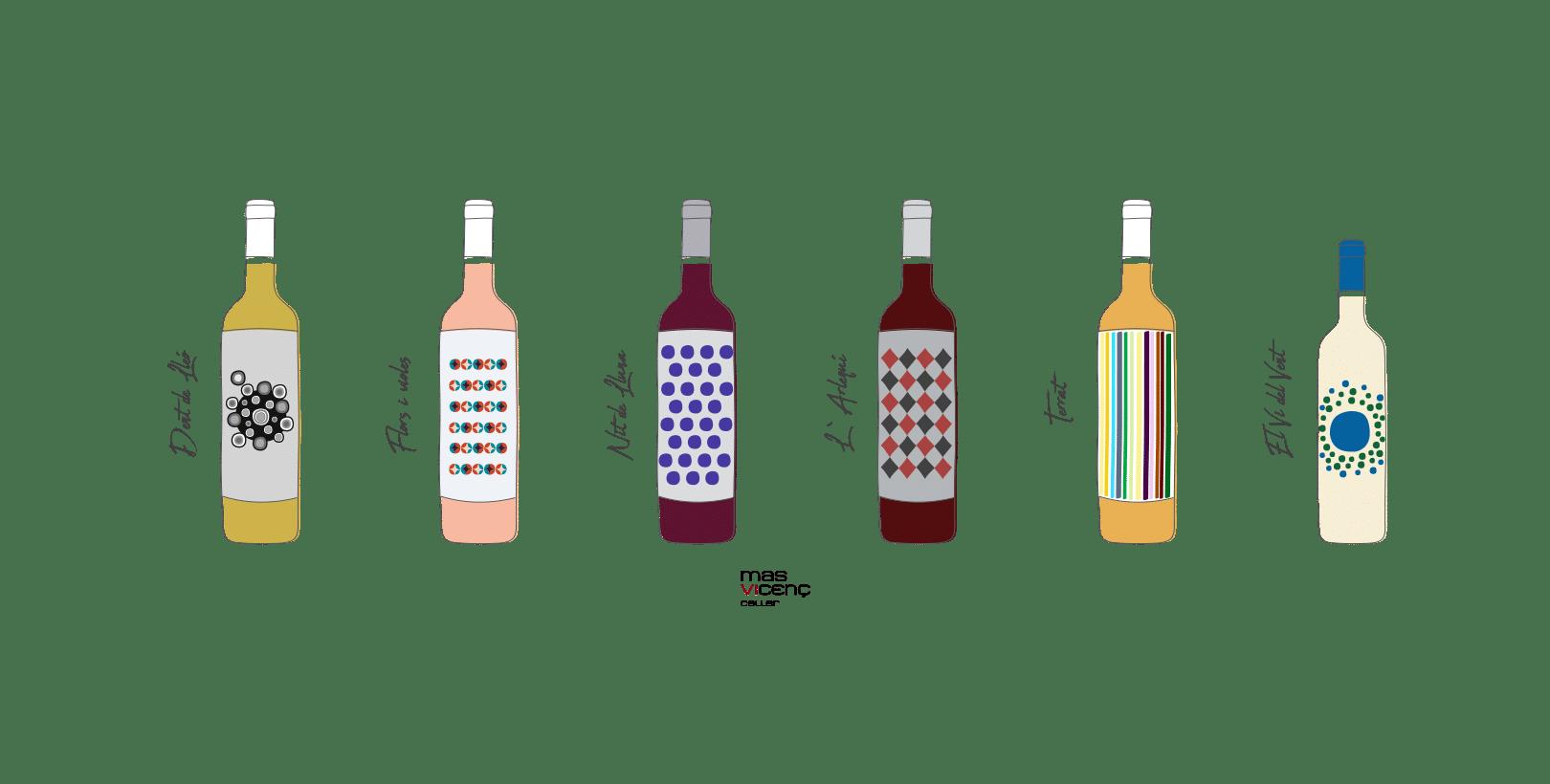 Fotografía de producto e Ilustraciones para bodega en Tarragona
