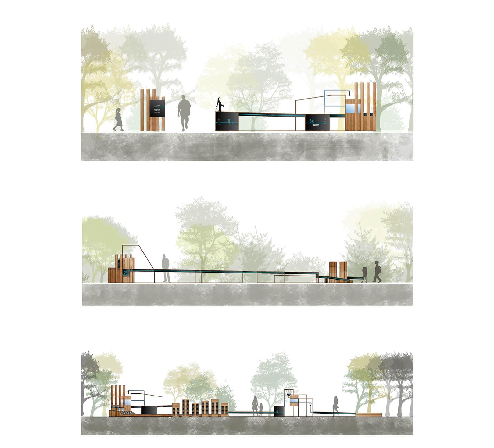 Diseño arquitectónico de parque infantil en Tarragona