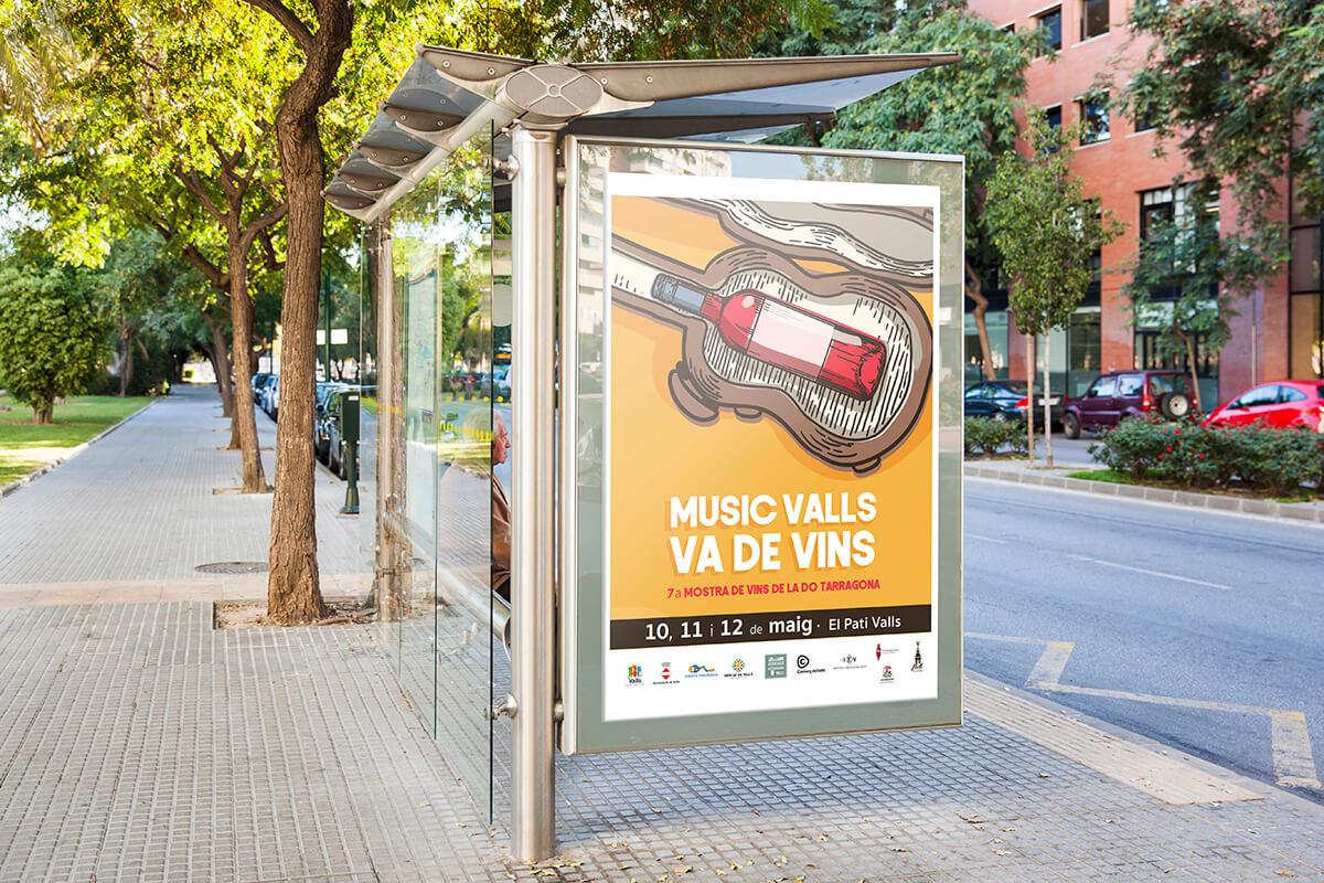 Diseño gráfico de cartel para Ayuntamiento de Valls
