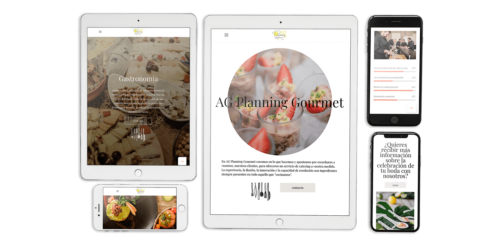 Diseño Web para el catering Ag Planning Gourmet en Tarragona