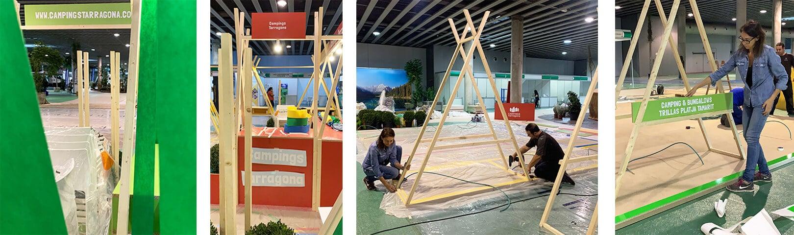 Diseño Gráfico de stand para Campigs Tarragona