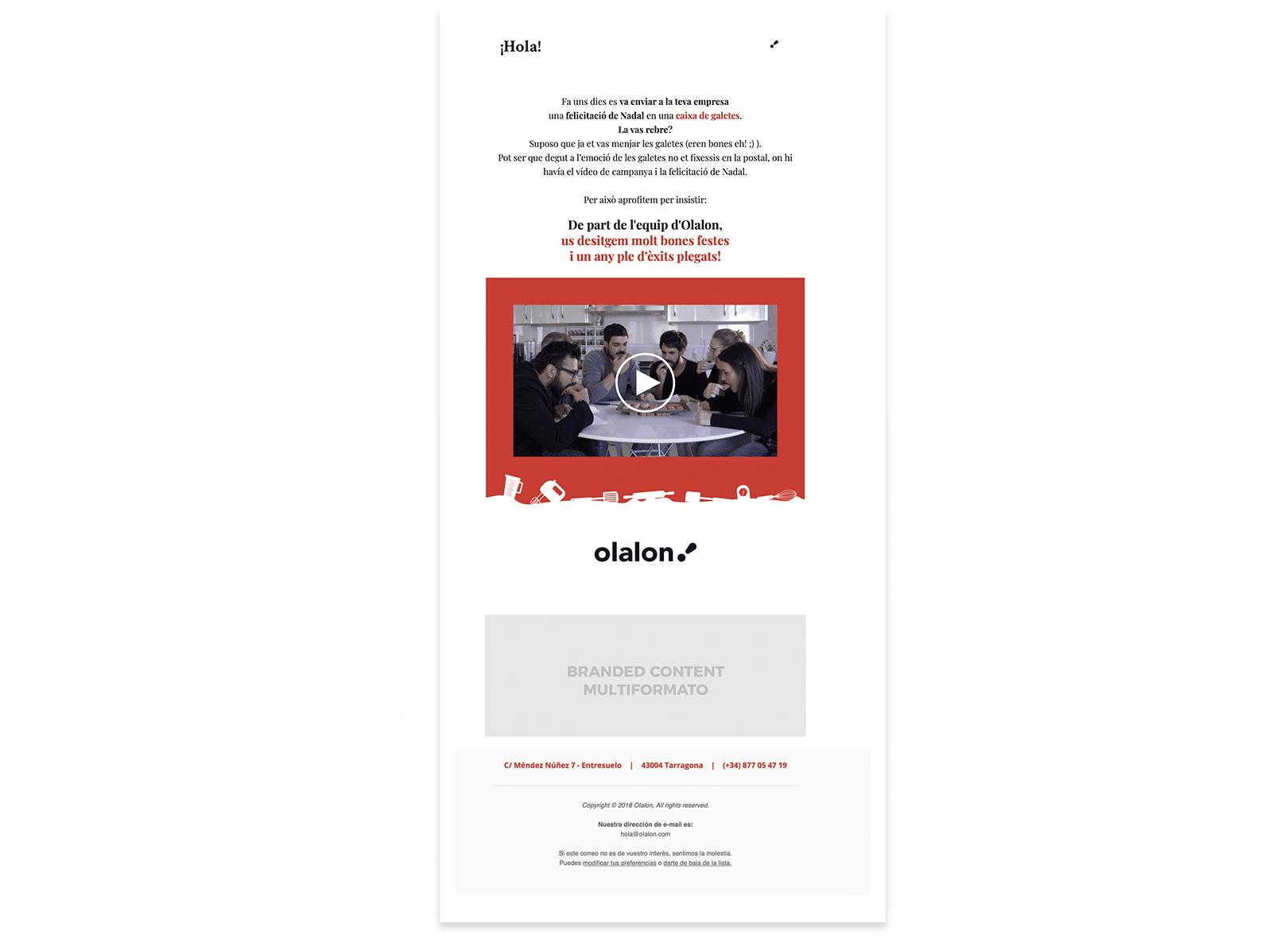 Campaña de Navidad para agencia de Publicidad en Tarragona