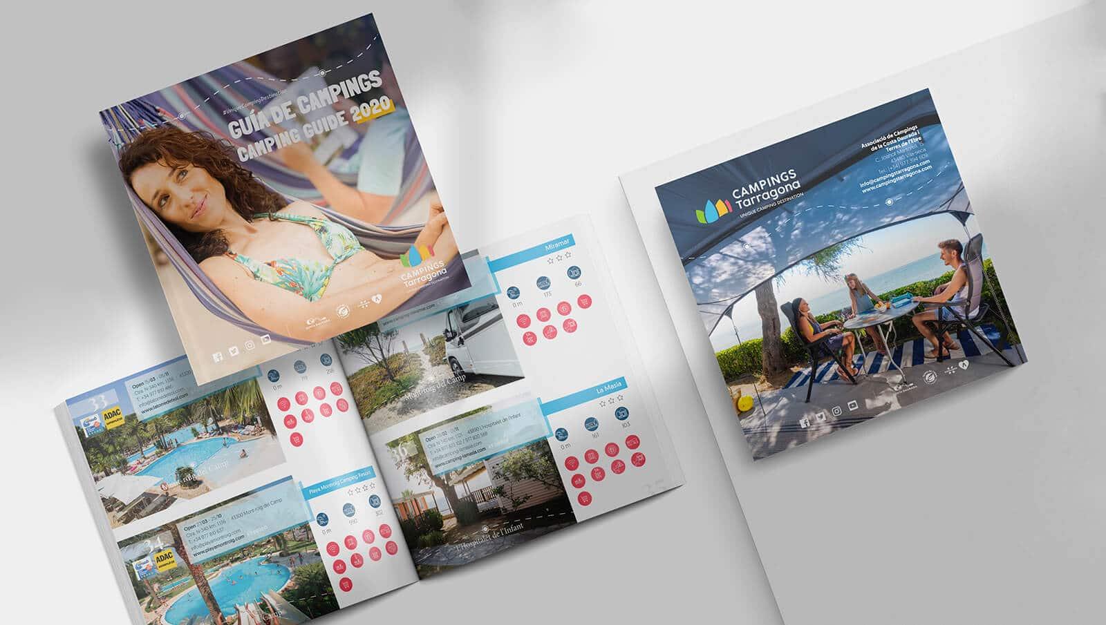 Diseño de maquinación de catálogo para Campings Tarragona