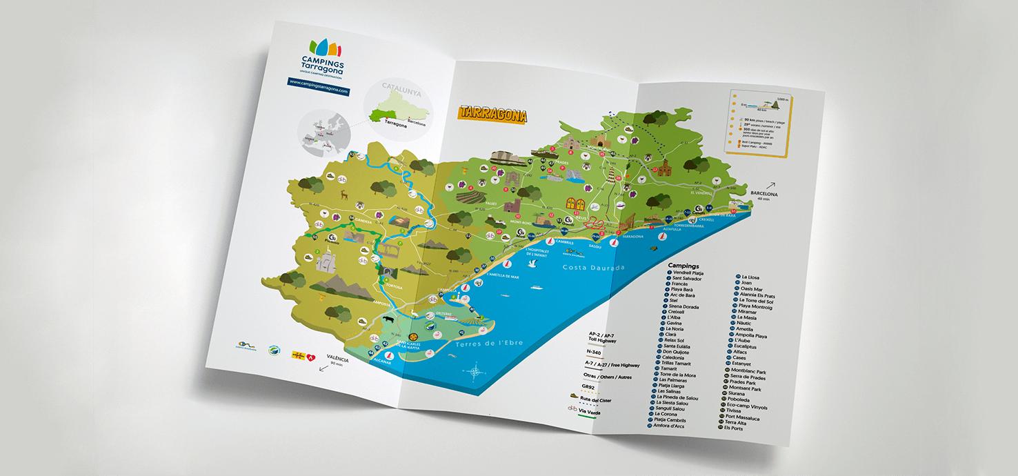 Diseño de mapa para Campings Tarragona