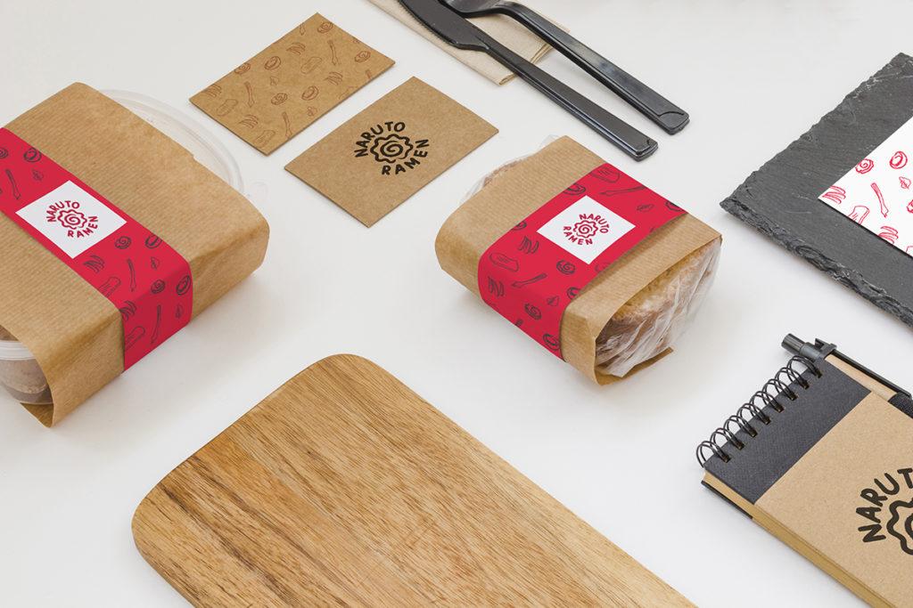 diseño de identidad corporativa para marca de comida a domicilio