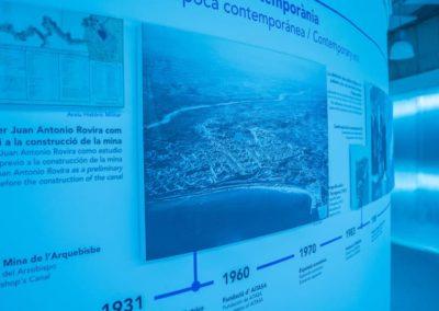 detalle arquitectura efímera exposición Ematsa