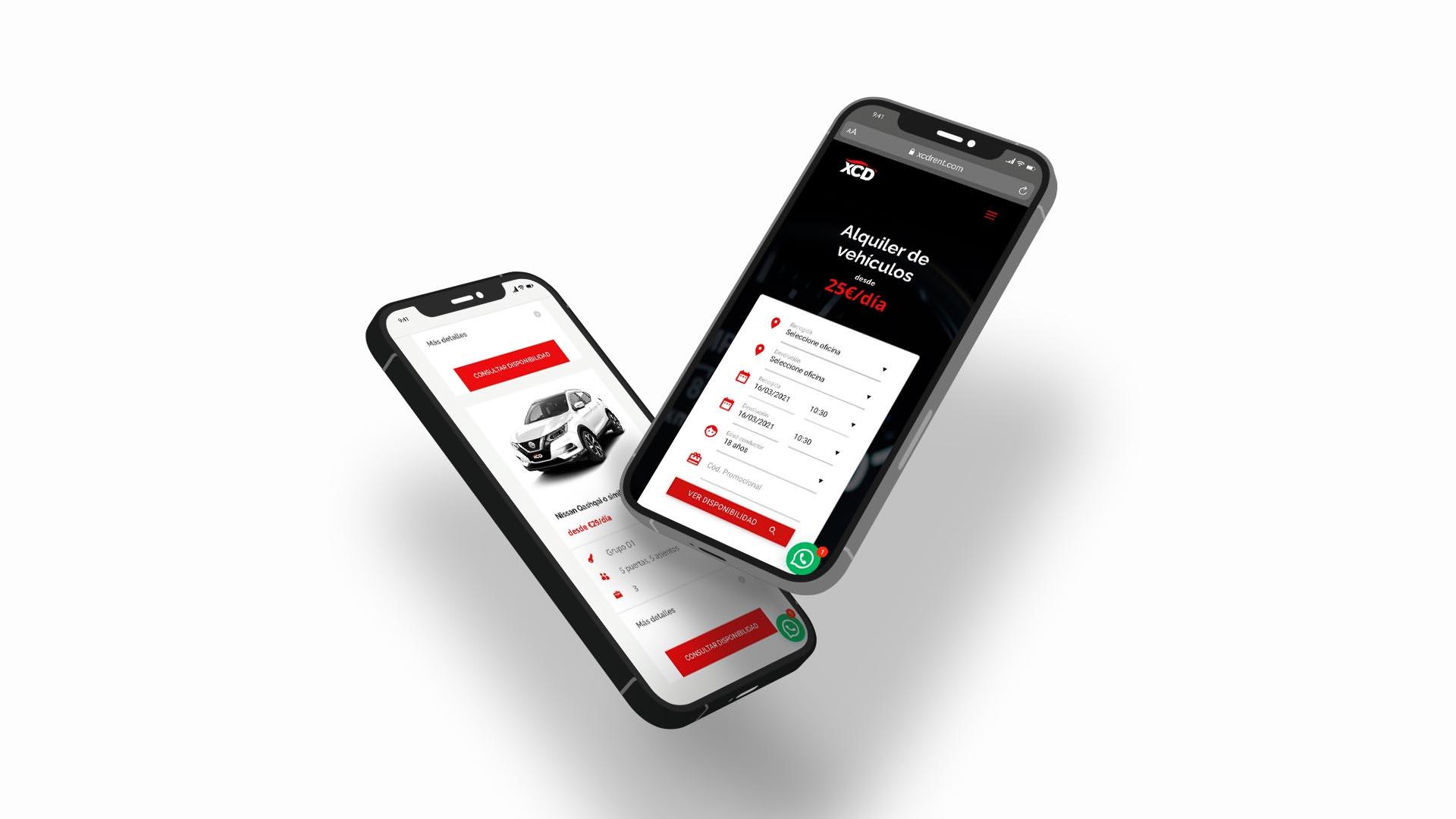 Diseño web para empresa de alquiler de vehículos